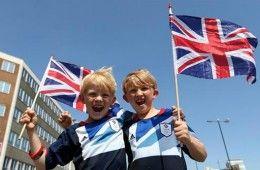 Bambini supporter Team GB