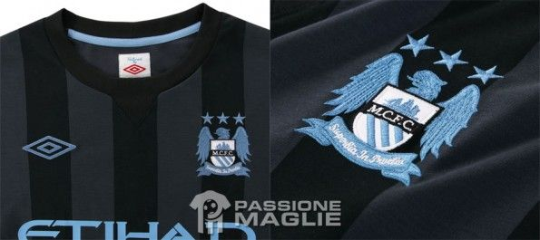 Particolari kit Champions League del Manchester City