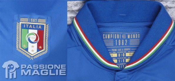 Particolari maglia Italia celebrativa
