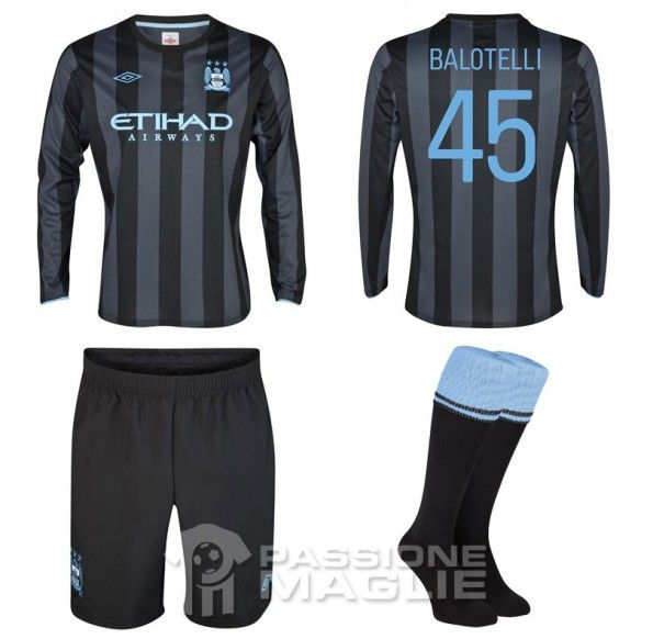 Manchester City divisa away 2012-2013 Uefa
