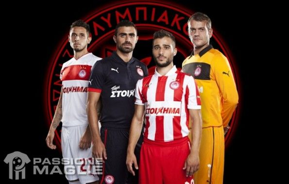Le maglie dell'Olympiakos 2012-2013