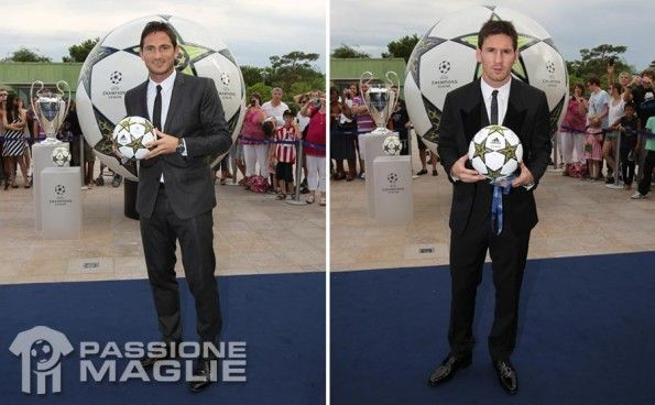 Messi Lampard pallone adidas Champions League