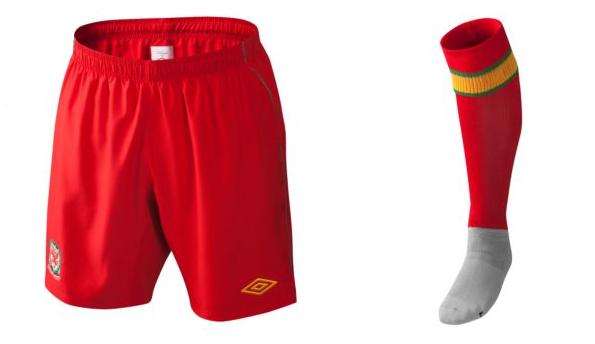 Pantaloncini e calzettoni del Galles 2012-2013