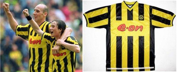 La maglia 2000-2002 del Borussia Dortmund, prodotta dalla Goool.de