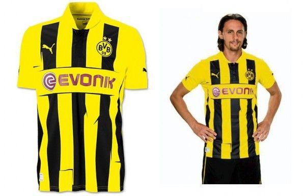 La maglia europea del Borussia Dortmund 2012-2013
