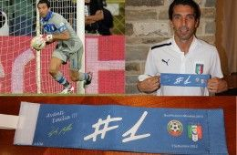 Fascia capitano Buffon in Bulgaria-Italia