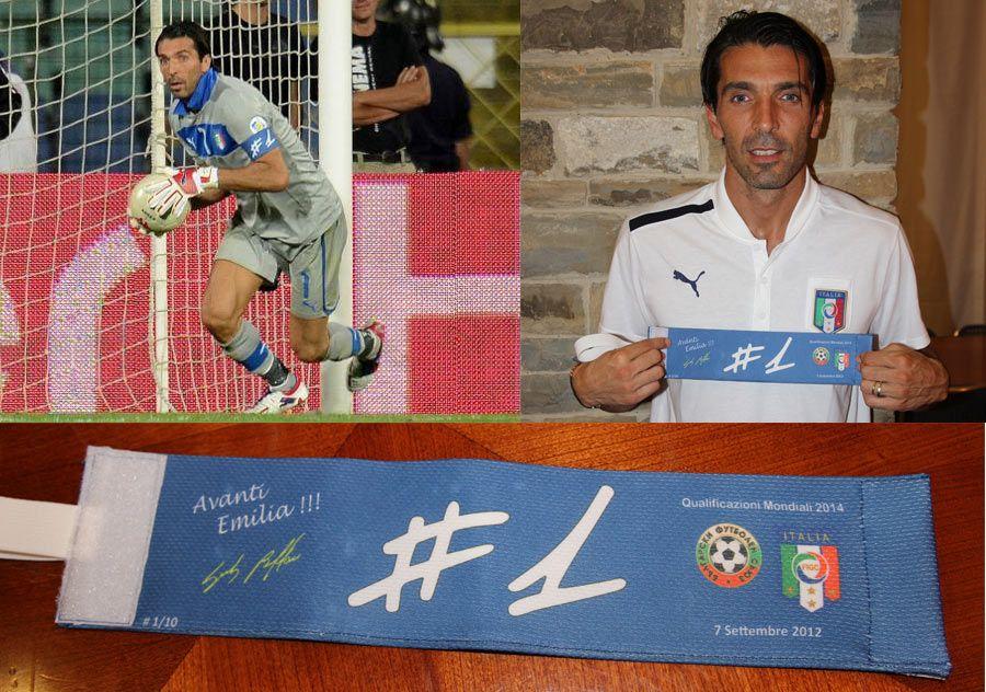 Fascia capitano Buffon in Bulgaria-Italia