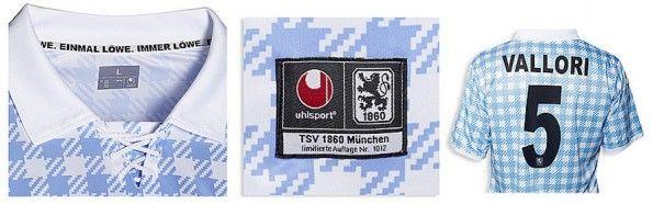 Dettagli della maglia del Monaco 1860 dedicata all'Oktoberfest 2012