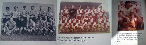 Le maglie del Rimini negli anni '50, '70, '80