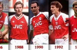 Maglie Arsenal 1986-1995
