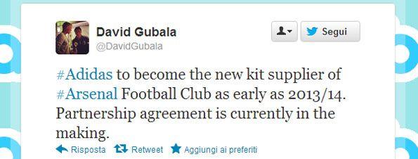 Tweet Gubala adidas