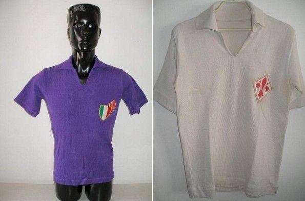 Due maglie storiche della Fiorentina