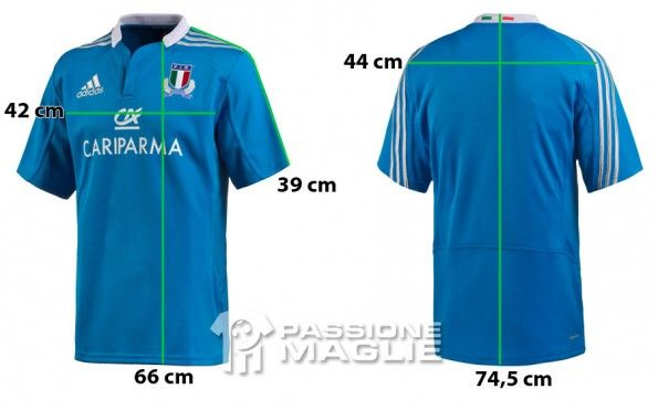 Prima maglia Italia rugby adidas 2012