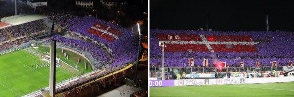 La coreografia della Curva Fiesole in Fiorentina-Juventus