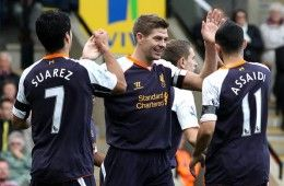 Gerrard e Suarez Liverpool