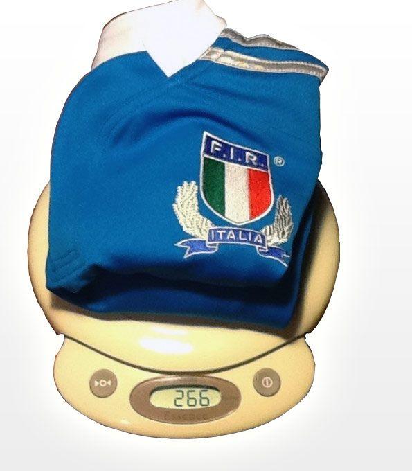 Prova peso maglia Italia di Rugby