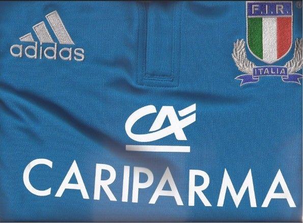 Loghi e sponsor della maglia Adidas della nazionale di rugby.