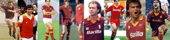 La discontinuità dei colori della maglia della Roma tra gli anni '70 ed i '90