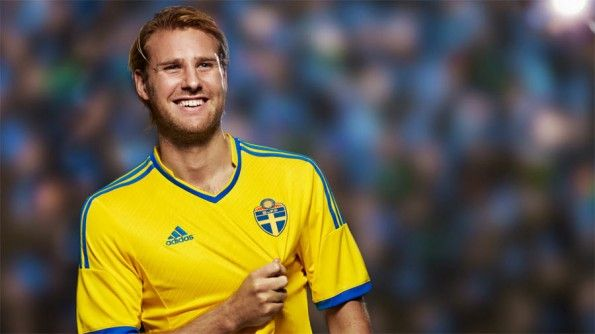 Prima maglia Svezia 2013-2014 adidas