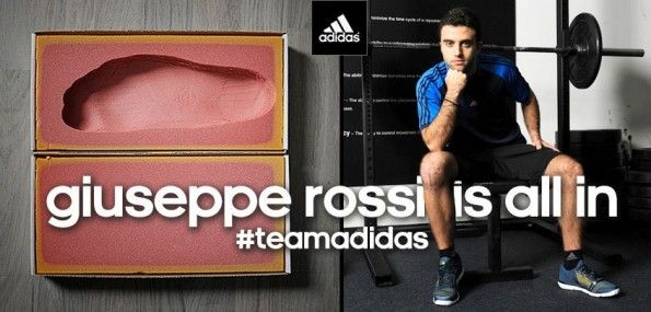 Rossi is all in adidas