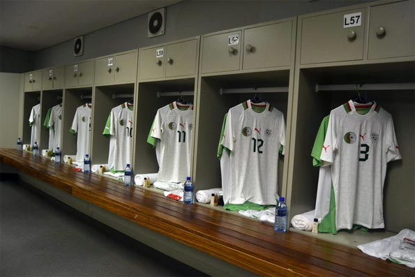 Spogliatoio Algeria Coppa d'Africa 2013