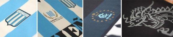 Dettagli divise Racing Club 2013