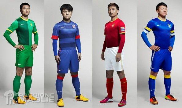 Divise ufficiali campionato cinese 2013