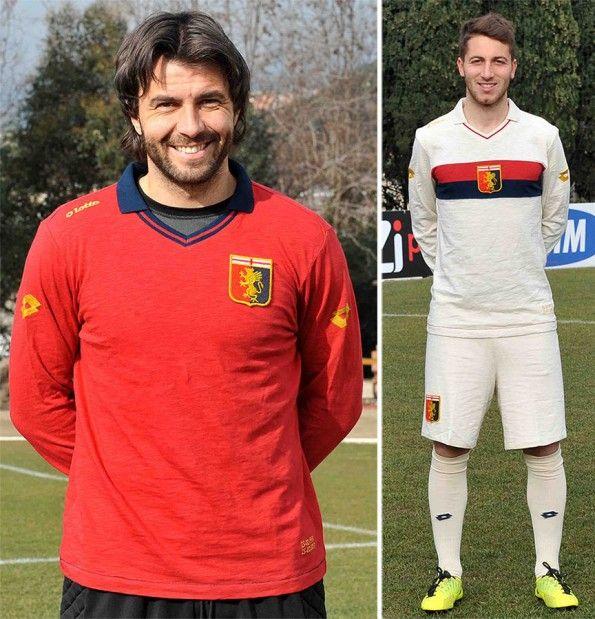 Frey e Bertolacci maglia away 100 anni Genoa