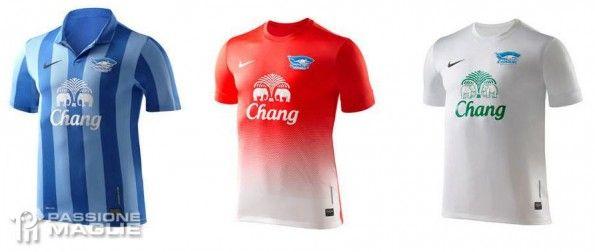 Le maglie del Chonburi FC 2013 Nike