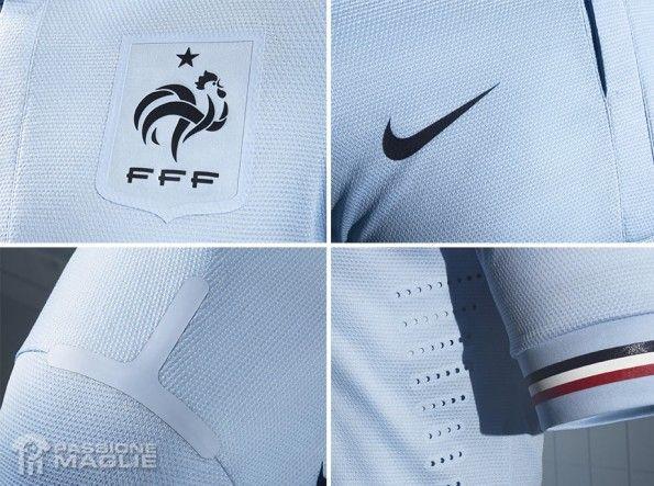 Particolari seconda maglia Francia 2013 Nike