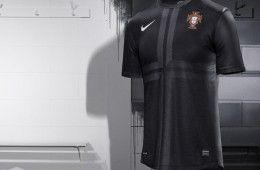 Maglia Portogallo away 2013 nera