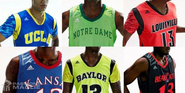 Dettagli canotte NCAA adidas 2013