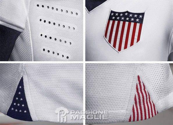 Dettagli kit USA home 100 anni Nike