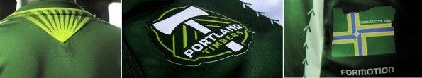 Dettagli della prima maglia 2013 dei Portland Timbers