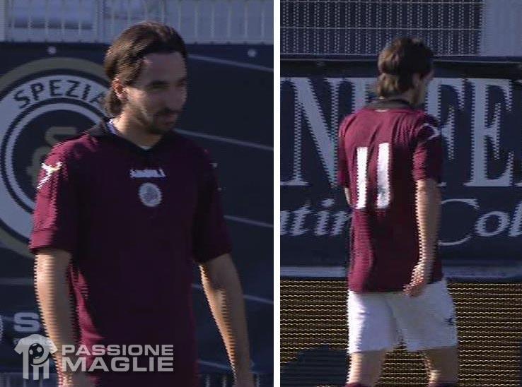 Lambrughi maglia contrario Spezia-Livorno