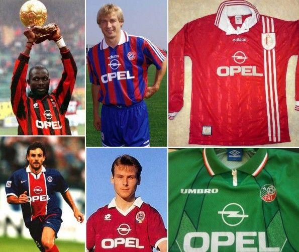 Maglie anni '90 sponsorizzate Opel