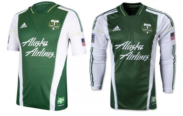Prima maglia Portland Timbers 2013 adidas