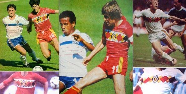 Le maglie del Belgio ad Euro 1984