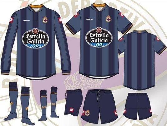 Bozzetti seconda divisa Deportivo La Coruna 2013-2014