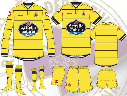 Bozzetti terza divisa Deportivo La Coruna 2013-2014
