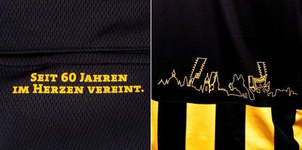 Dettagli della maglia dei 60 anni della Dynamo Dresda