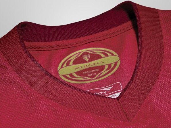 Colletto maglia rossa San Paolo 2013 prodotta da Penalty