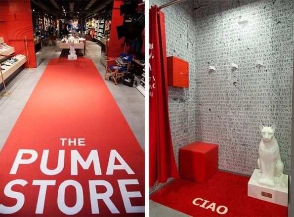 Interno e camerini Puma Store Roma