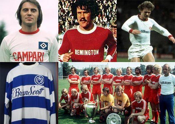 Le prime maglie da calcio con gli sponsor Bundesliga