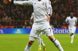 Cristiano Ronaldo esulta in Galatasaray-Real Madrid