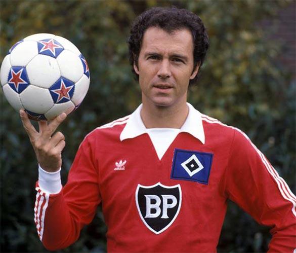 Beckenbauer maglia Amburgo anni '80