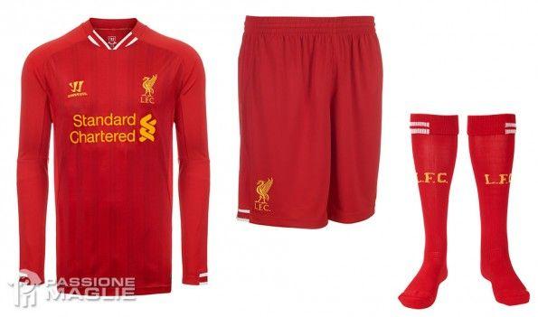 Calzoncini calzettoni Liverpool home 2013-14