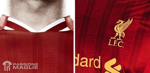 Colletto e trama maglia Liverpool 2013-2014