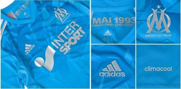 Particolari maglia europea Olympique Marsiglia 2013-2014