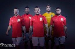 Divisa Inghilterra trasferta rossa 2013-14 Nike